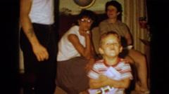 1967: family gathering IOWA Stock Footage
