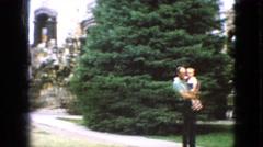 1967: a decorative half wall near a tourist location IOWA Stock Footage