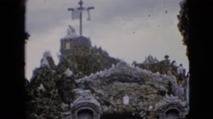 1967: vintage clip of cross on the cave Stock Footage