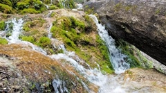 Waterfall in the Swabian Alb in Germany Stock Footage