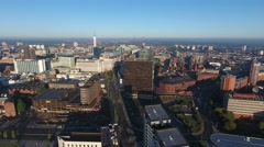 Aerial view of Birmingham city centre, UK. Stock Footage