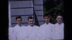 1969: boys for a first communion CALIFORNIA Stock Footage