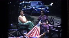 1969: creepy contrast makes a scene ghostly CALIFORNIA Stock Footage