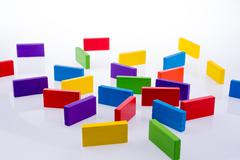 Color Dominoes Stock Photos