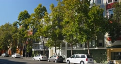 Typical San Francisco Apartment Buildings Establishing Shot	 	 Stock Footage