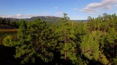 4K Aerial Tilt Up Reveal Mountain Mogollon Cliffs Stock Footage