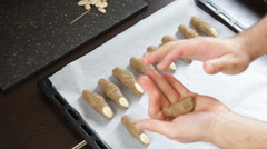 Cookie witch fingers Stock Footage