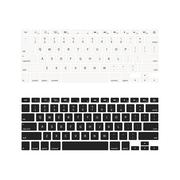 Laptop keyboards in different colours isolated on white Stock Illustration