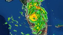 2004 Hurricane Charley Landfall Radar Time-Lapse Stock Footage