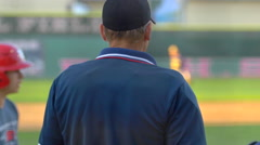The umpire at a baseball game. Stock Footage