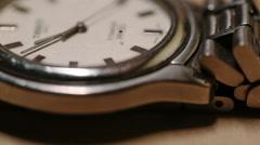 Steel Wrist Watch closeup time lapse Stock Footage
