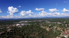 4K Aerial Fly Forward Over Payson with Mogollon Rim Background Stock Footage