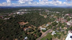 4K Aerial Fly Back View of Downtown Payson Stock Footage