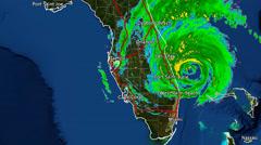 2016 Hurricane Matthew Landfall Radar Time-Lapse Stock Footage