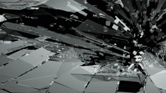 Glass crack and shatter with slow motion. Alpha Stock Footage