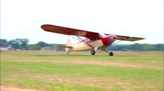 Piper Super Cub Take Off Stock Footage