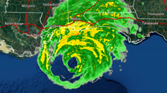 2004 Hurricane Ivan Landfall Radar Time-Lapse Stock Footage