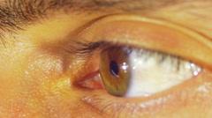 Human Eye Blinks Stock Footage