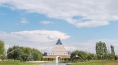 Palace of Peace and Reconciliation. Astana, Kazakhstan. Zoom TimeLapse Stock Footage