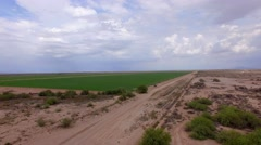 4K Drone Aerial Arizona Desert Farm Stock Footage