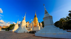 Wat Suan Dok Landmark Temple Of Chiang Mai, Thailand (loop right) Stock Footage