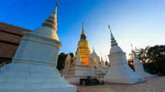 Wat Suan Dok Landmark Temple Of Chiang Mai, Thailand (loop left) Stock Footage