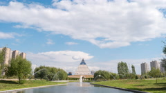 Palace of Peace and Reconciliation. Astana, Kazakhstan. Zoom. Time Lapse Stock Footage