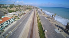 Dana point pacific coast highway Stock Footage