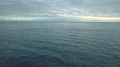 Sea. Ship on the horizon. Stock Footage
