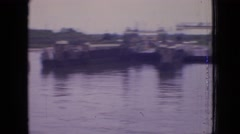 1964: devastation on the river PHILADELPHIA PENNSYLVANIA Stock Footage