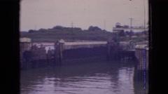 1964: docking from water t land PHILADELPHIA PENNSYLVANIA Stock Footage