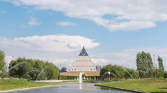 Palace of Peace and Reconciliation. Astana, Kazakhstan. TimeLapse Stock Footage