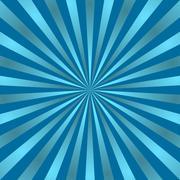Blue rays poster star shine vivid Stock Illustration