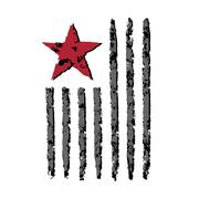 American flag grunge symbol Independence Day celebration Piirros