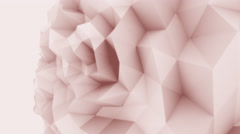 Rose 3D low poly edgy sphere motion background for modern reports and Stock Footage