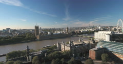 The House of parlament and the Big Ben in London Stock Footage