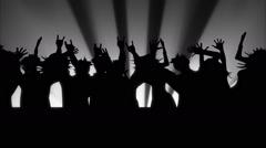 Animated cartoon. People dancing. Looped Stock Footage