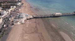 The pier in Worthing, Southern England Stock Footage