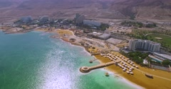 Dead Sea Beach  israel. Stock Footage