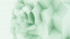 Green 3D low poly edgy sphere motion background for modern reports and Stock Footage