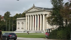 Konigsplatz Museum in Munich, Germany Stock Footage
