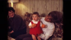 1966: a family dinner with a little girl on halloween ATHENS OHIO Stock Footage