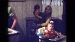 1966: family time with the kids enjoying the time as life passes by ATHENS OHIO Stock Footage