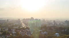Sunset over the city of Alma-Ata. Kazakhstan. Time Lapse Stock Footage