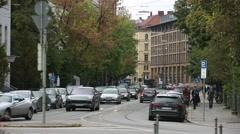 Traffic in Europe: Munich, Germany Stock Footage
