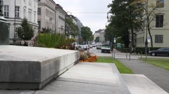 Munich City Centre: typical Bavarian streets Stock Footage