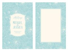 Floral marriage card Stock Illustration
