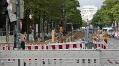 Roadworks in Munich, Germany Stock Footage