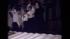 1966: a group of young children gather in a church to sing OHIO Stock Footage