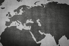 Eurasia, Europe Asia map on vintage background Stock Illustration